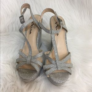 Touch of Nina Sparkle Wedge Sandals